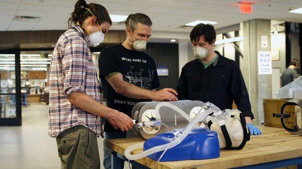 Simple, Low-Cost Ventilator built on resuscitation bags can serve two patients