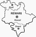 Rewari District Map