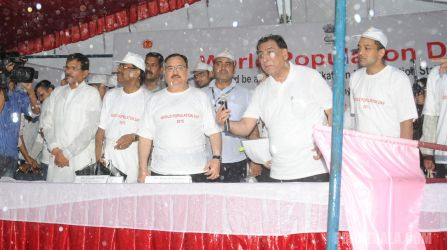 JP Nadda Flags Walkathon to celebrate World Population Day