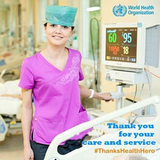 WHO thanks health workers on World Humanitarian Day 2015
