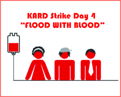 KARD Strike Day 4: Strike Continues, Doctors organise blood donation camps