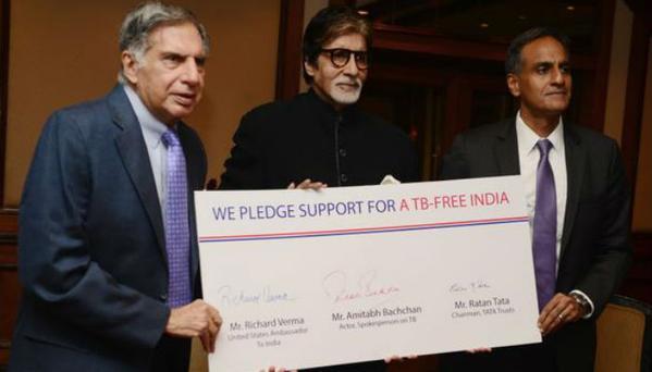 Amitabh Bachchan and Ratan Tata support TB-Free India