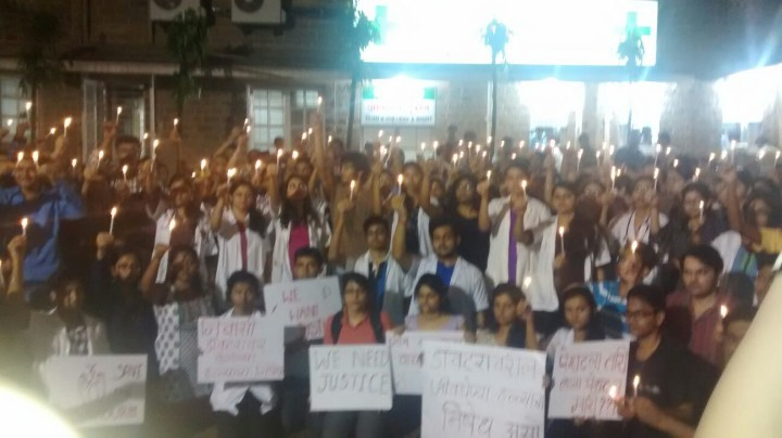 KEM Hospital candle march 1