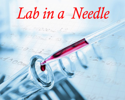 Researchers developing lab in a needle device for quick diagnostic testing