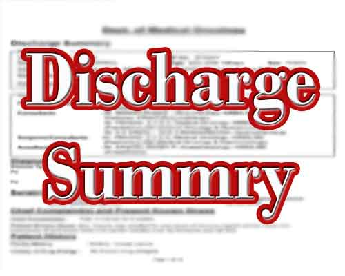 Is the discharge summary right?