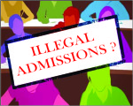 illegal admission in medical college