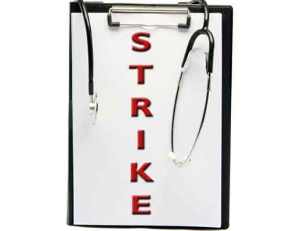 Delhi: Doctors of Hindu Rao Hospital call it a strike over non payment of Salaries