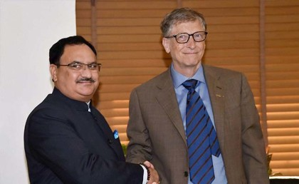 Bill Gates calls on health minister, discusses health system