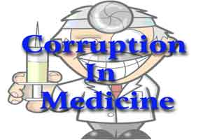New Delhi: Doctor protests against corruption Delhi Hospital
