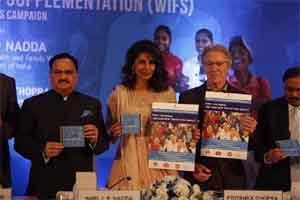 Nadda, Priyanka Chopra launch campaign against Anaemia