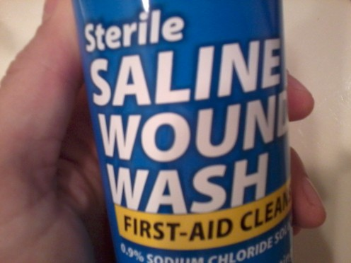 Saline water better than soap and water for cleaning wounds- Study