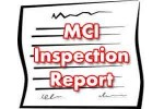 MCI inspection report