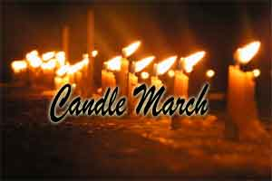 New Delhi: Candle March to oppose 7th Pay Commission recommendations