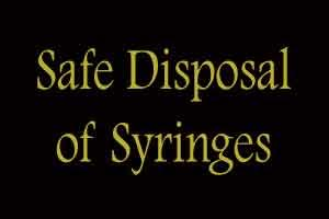 Nationwide campaign on safe disposal of syringes