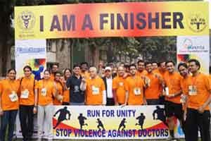 AIIMS RDA, Medical Dialogues organise Marathon to protest on violence against doctors