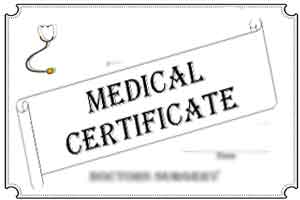 Guidelines for issuing a medical certificate