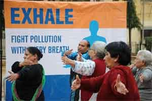 New Delhi: Apollo Hospitals launches the Exhale initiative to fight air pollution