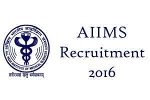 AIIMS, Bhopal Recruitment 2016: Online Application