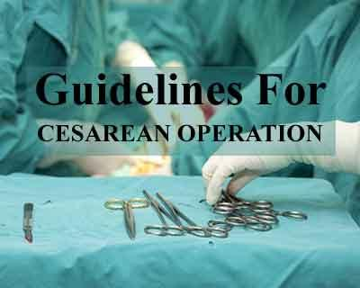 Are there any guidelines for cesarean operations? HC to Centre