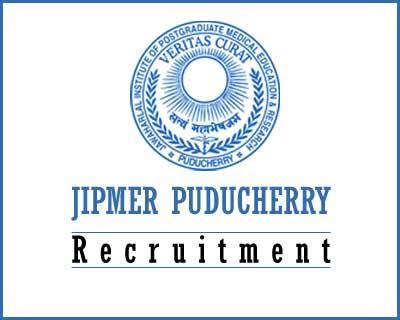 JIPMER Puducherry Senior Resident Recruitment 2016