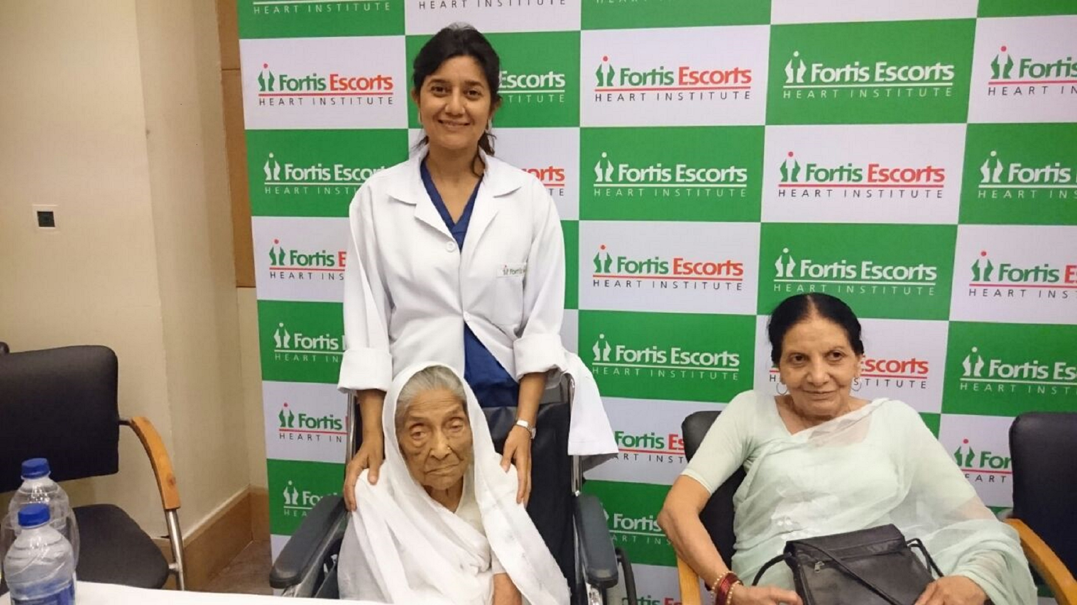 New Delhi: Doctors at Fortis Escorts implant a pacemaker in a centenarian