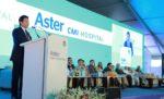 Shri Sachin Tendulkar addressing the gathering at Aster CMI Inauguration (1)