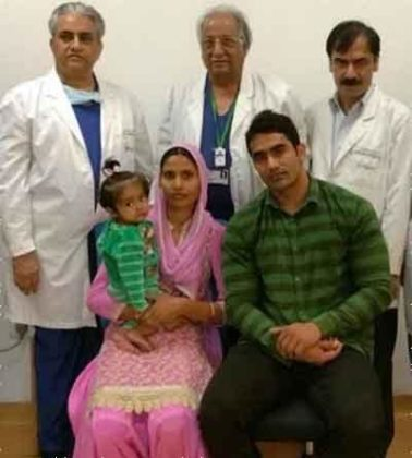 Fortis Hospital Shalimar Bagh performs a life-saving surgery on a one year old infant