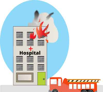 New Delhi: Fire reported at Safdarjung Hospital Emergency
