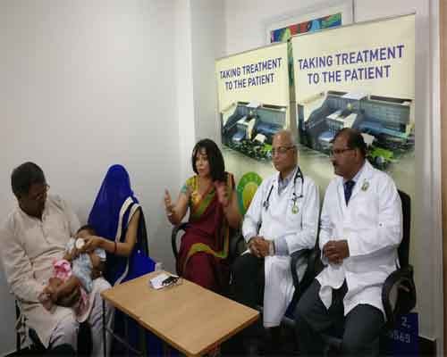 Mathura: Doctors perform cardiac surgery on a six month old with Blue Baby Syndrome
