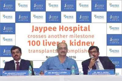 Jaypee Hospital announces completion of over 100 transplants in 1 year