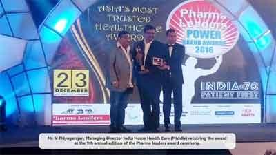 India Home Health Care Honoured with Jury Award for Most Promising Home Healthcare Service Provider 2016 in India