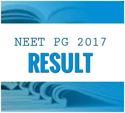 NEET PG 2017 Results Declared, check out the Result cum scorecard
