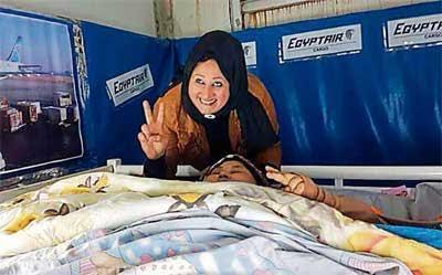 Eman Ahmed discharged from Saifee Hospital