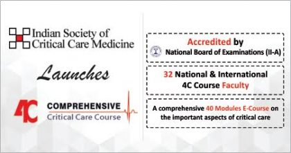 Indian Society of Critical Care launches 4C- Critical Care Medicine E-Course