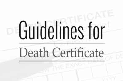 Frame Guidelines for Medical Certificate for Death: Human Rights Forum to TN