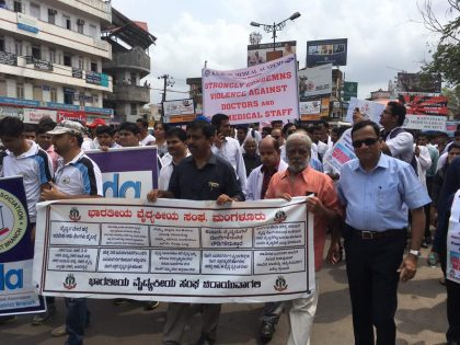 10,000 Mangaluru Doctors take to streets on Issue of Violence