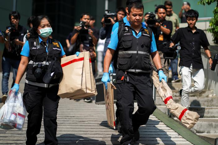 Bangkok hospital bomb wounds 24, junta blames its opponents