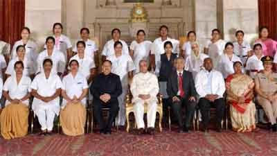 35 Nurses conferred National Florence Nightingale Awards by President
