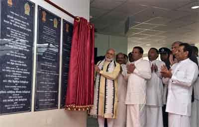 PM inaugurates hospital in Sri Lanka
