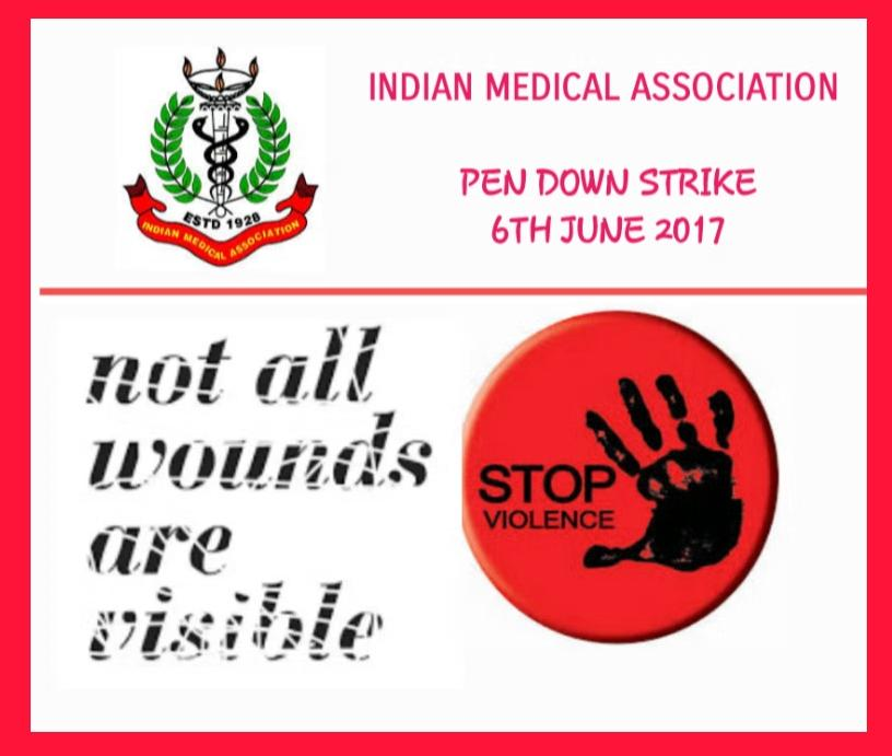 Massive Rally of Doctors in the New Delhi, Pen Down Strike across India