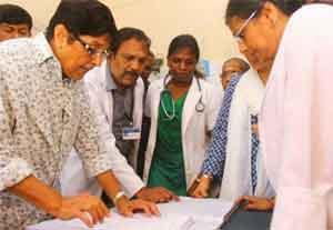Bedi finds shortcomings at Karaikal govt hospital