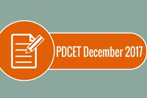 PDCET December 2017 Examination dates out