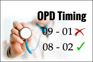 Delhi govt hospitals OPD timings extended by 2 hours