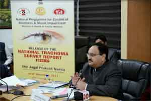 JP Nadda releases National Trachoma Survey Report 2014-17