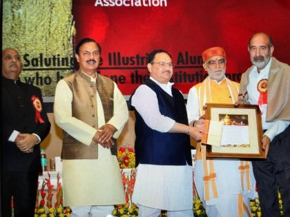 President Elect, Delhi Medical Association, Dr Girish Tyagi honoured