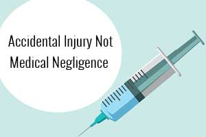 Accidental Injection Injury not negligence: State Forum gives relief to Doctor