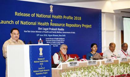 Health Minister JP Nadda Releases National Health Profile 2018