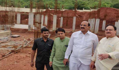 Nadda inspects construction works of AIIMS
