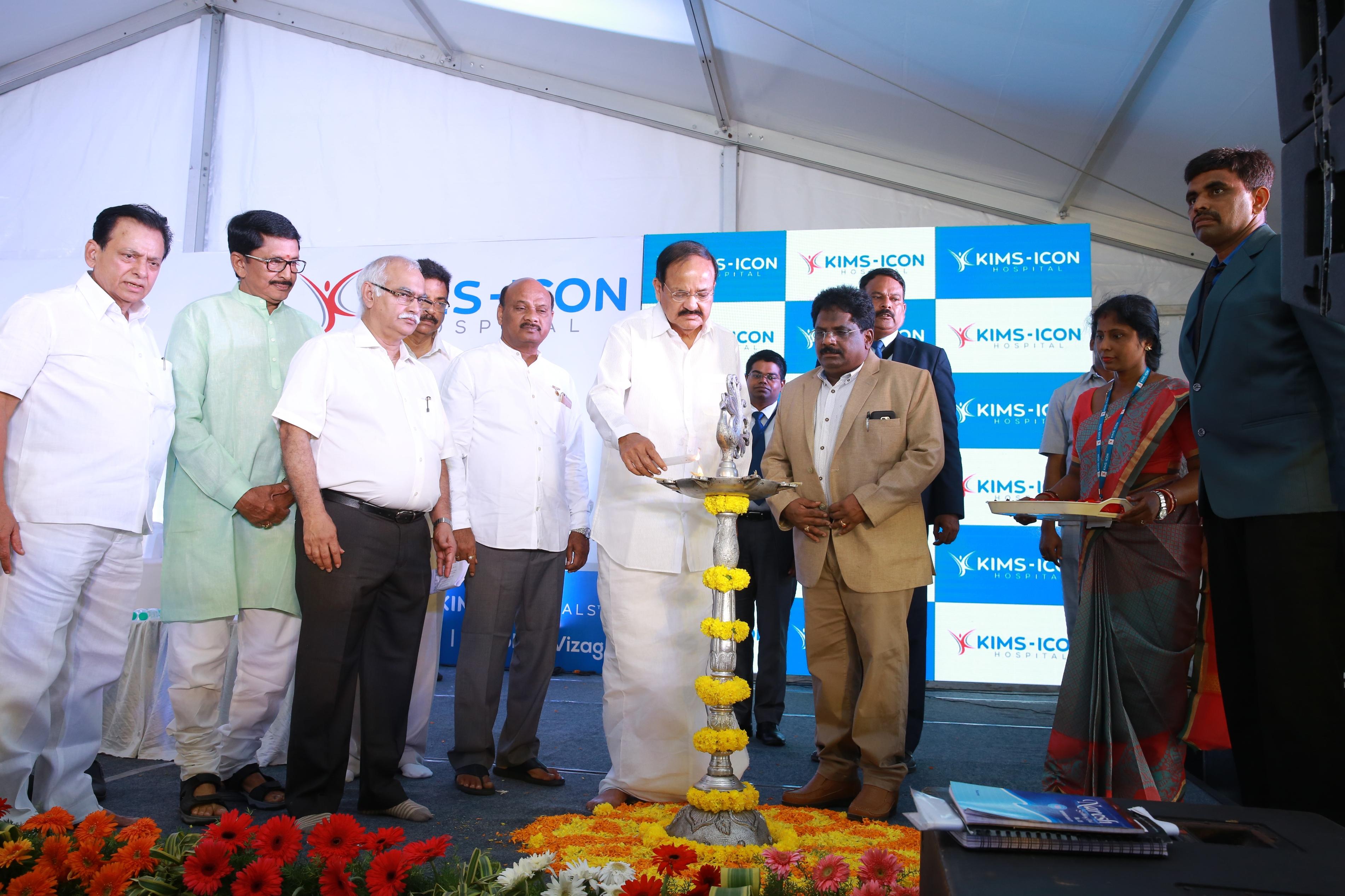 Vice President Venkaiah Naidu Inaugurates 434 bedded KIMS ICON Hospital at Vizag