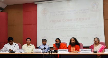 Meeting on Certification of Yoga Professionals and Accreditation of Yoga schools held at New Delhi